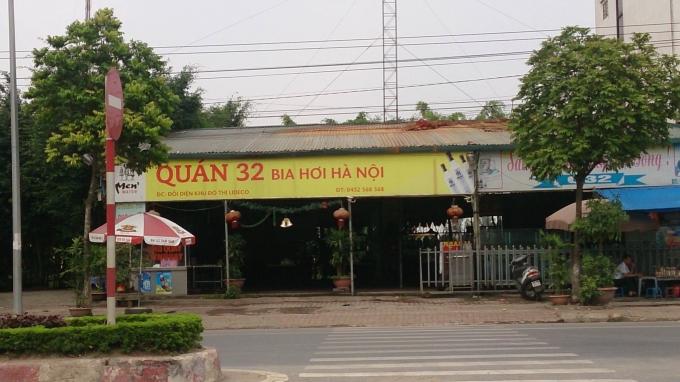 Quán bia hơi Hà Nội xây dựng trên đất nông nghiệp vẫn ngang nhiên tồn tại.