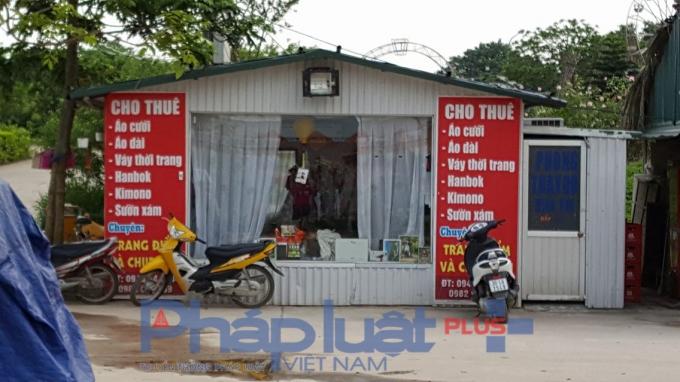 Cửa hàng cho thuê dịch vụ cưới.