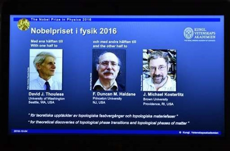 Người chiến thắng Nobel Vật Lý 2016 là ai?