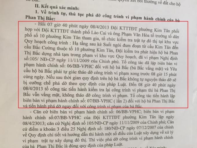 Trong vòng 1h cưỡng chế xong nhà bà Phan Thị Bắc.