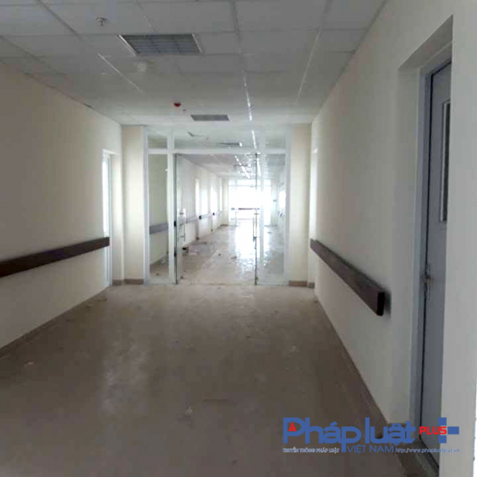 Một số tầng của tòa nhà vẫn chưa được trang bị hệ thống PCCC.