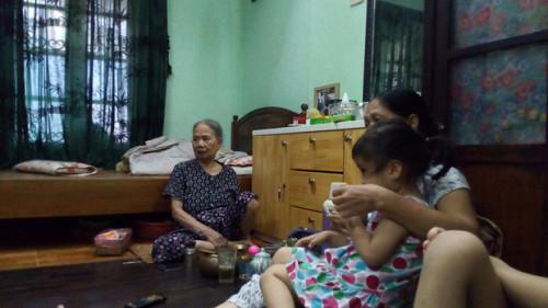 Bà Phạm Thị Điểm đã xuất viện nhưng vẫn còn mệt.
