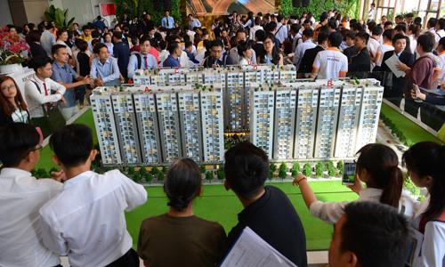 Trong quý II/2017, tỷ trọng người mua nhà để ở lần đầu tại thị trường TP HCM và Hà Nội chiếm 66%, trong khi mua để đầu tư cho thuê là 26% và lướt sóng hạ xuống mức khá thấp (8%). Ảnh:Vũ Lê
