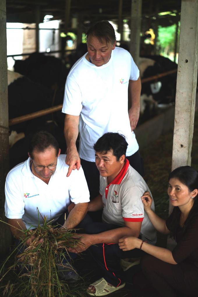 Các nông dân Hà Lan hướng dẫn về dinh dưỡng tại chuồng trại.