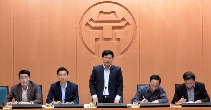 Phó Chủ tịch UBND TP Hà Nội Ngô Văn Quý phát biểu tại Hội nghị.