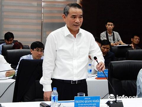 Bí thư Thành ủy Đà Nẵng Trương Quang Nghĩa xác nhận việc di dời ga đường sắt Đà Nẵng phải gắn trong tổng thể dự án xây dựng tuyến đường sắt cao tốc Bắc - Nam (Ảnh: HC)