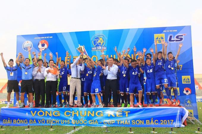 U15 PVF vô địch U15 quốc gia 2017.