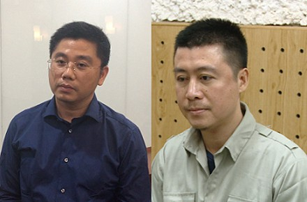 Nguyễn Văn Dương và Phan Sào Nam, 2 đối tượng cầm đầu đường dây đánh bạc nghìn tỉ đồng.