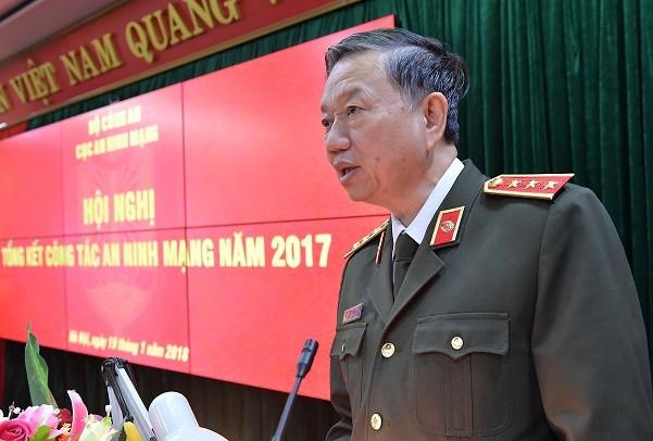 Thượng tướng Tô Lâm - Bộ trưởng Bộ Công an (Ảnh: Chinhphu.vn)