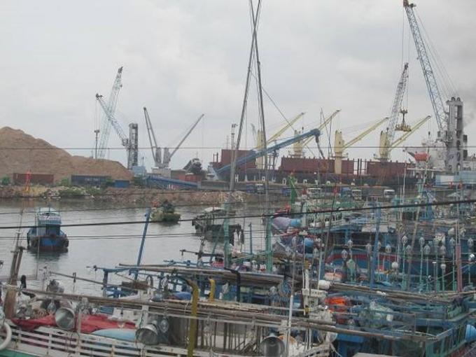 Công ty CP Tân Cảng Quy Nhơn đổ đá, xà bần xuống biển san lấp 150m² trên phần diện tích 7ha mặt nước chưa thực hiện.