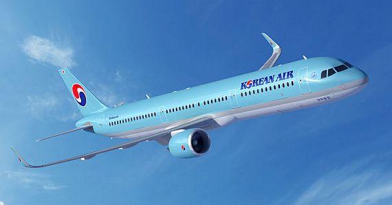 Hãng Korean Air của Hàn Quốc dịu dàng với thiết kế màu xanh dương, biểu tượng Ying – Yang (âm – dương) trên quốc kỳ được vẽ cách điệu trên đuôi máy bay thể hiện sức mạnh phát triển mạnh mẽ.