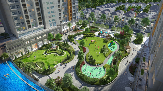 Khu quảng trường xanh mát – điểm nhấn nổi bật trong chuỗi tiện ích nội khu
