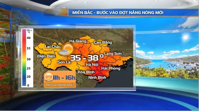 Thông tin dự báo khí tượng thủy văn từ Đài Truyền hình Việt Nam