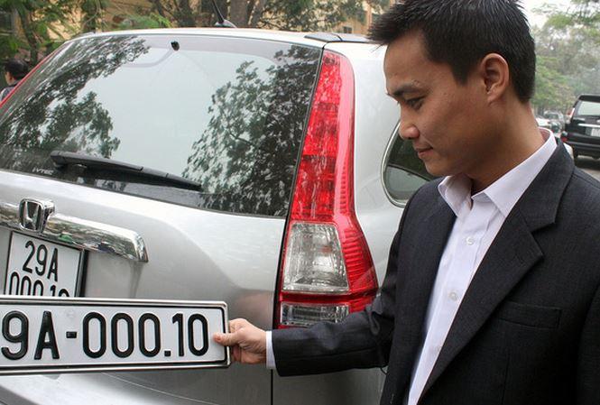 Bộ Công an đã trình Thủ tướng đề án đấu giá biển số xe đẹp. Ảnh minh họa.