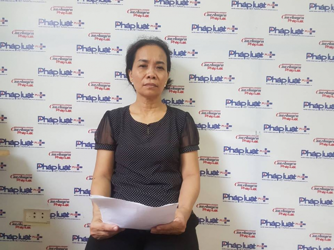 Bà Nguyễn Thị Hà gửi đơn tới Pháp luật Plus.