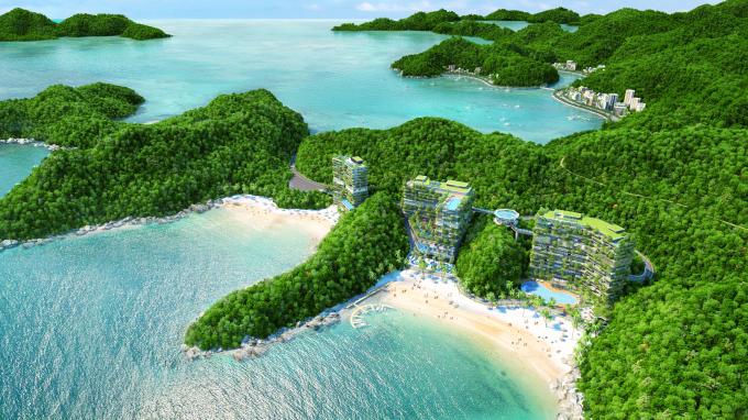 Phối cảnh Dự án Flamingo Cát Bà Beach Resort
