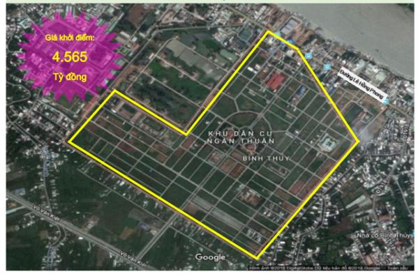 Dự án khu dân cư tại thành phố Cần Thơ được Sacombank rao bán đợt này. Ảnh: Sacombank