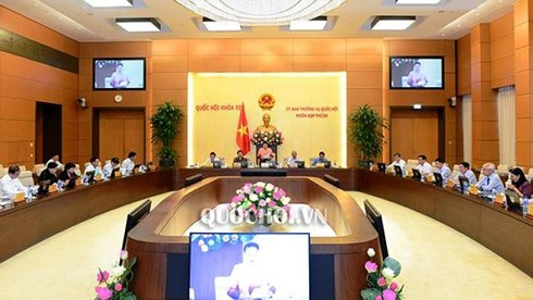 Phiên họp thứ 26 của Ủy ban Thường vụ Quốc hội (Ảnh: Quochoi.vn)