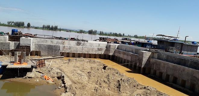 Công trình lấn sông Mã được Cty Hồng Cường ngang nhiên bất chấp lệnh cấm của các cơ quan ban ngành tỉnh Thanh Hóa