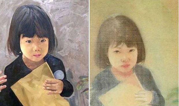 Bức tranh lụa chân dung bé gái tại nhà đấu giá Chọn tháng 7 vừa qua bị họa sĩ Nguyễn Văn Đông tố là tranh chép lại từ tác phẩm của anh.
