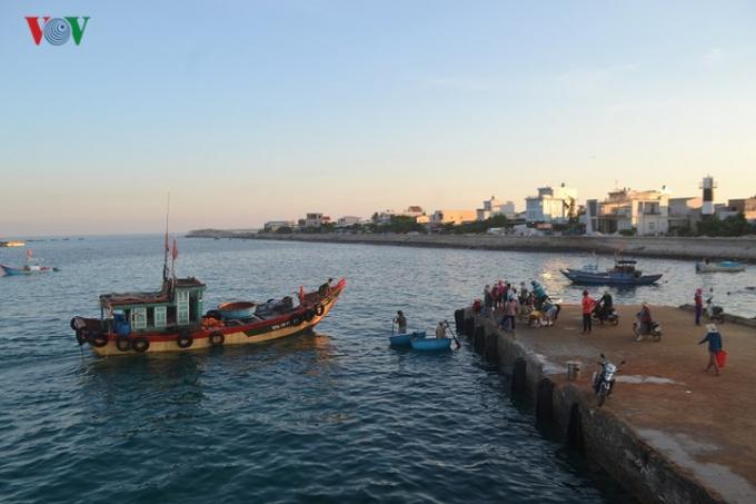 Khi tàu bắt đầu cập cảng cũng là lúc bắt đầu phiên chợ cá.
