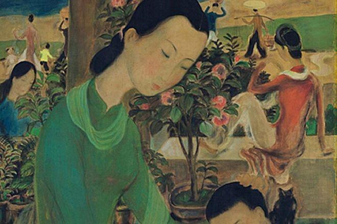 Bức tranh gần triệu USD của họa sĩ Lê Phổ.