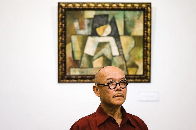 """Họa sĩ Thành Chương bất ngờ tố bức tranh ghi tên của họa sĩ Tạ Tỵ là tác phẩm """"Trừu tượng"""" của ông."""