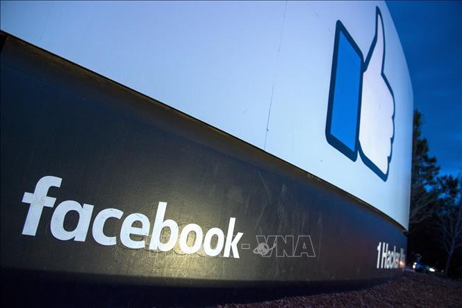 Biểu tượng của mạng xã hội Facebook. Ảnh: AFP/TTXVN