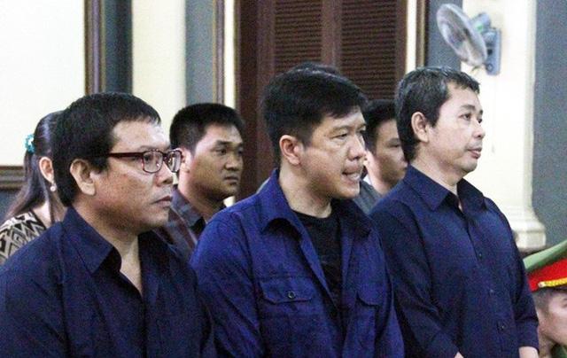 Nguyễn Văn Thới, Nguyễn Cảnh Chân và Trần Quốc Thái tại phiên xử hồi 30/8.