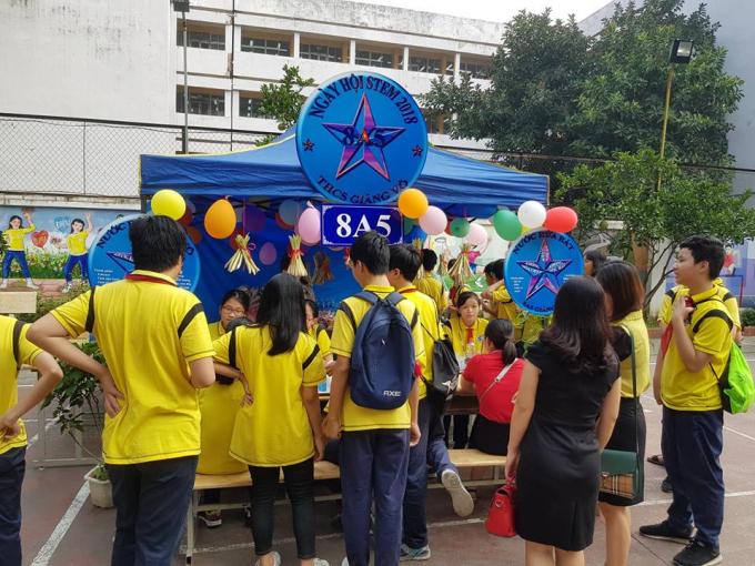Nhiều hoạt động phong phú thu hút học sinh.