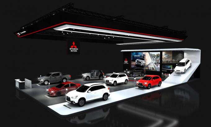 Gian trưng bày tất cả các mẫu xe của MMV tai VMS 2018
