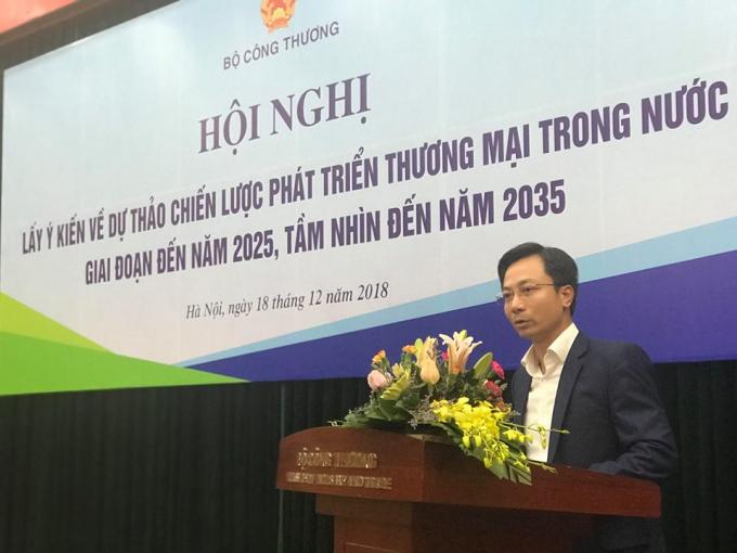 Ông Trần Duy Đông tại một Hội nghị của Bộ Công Thương.