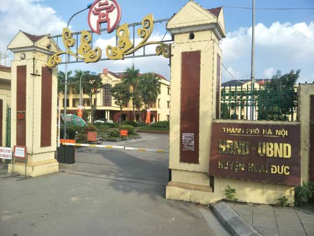 Trụ sở UBND huyện Hoài Đức. Ảnh HV