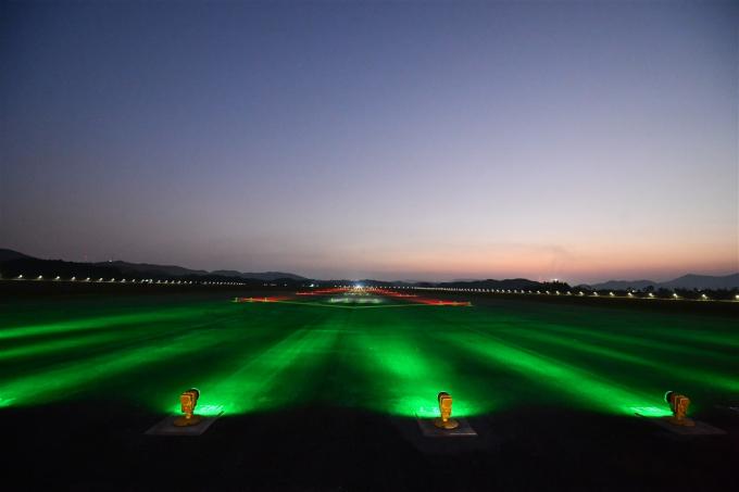 Khung cảnh tại Cảng hàng không quốc tế Vân Đồn.