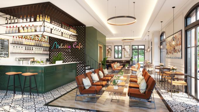 Thiết kế nhiều mặt thoáng, shophouse Melodia sẽ trở thành không gian cafe lý tưởng (Ảnh minh họa)