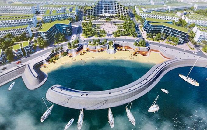 Quảng trường biển, một trong những hạng mục của dự án THE SEA EYES
