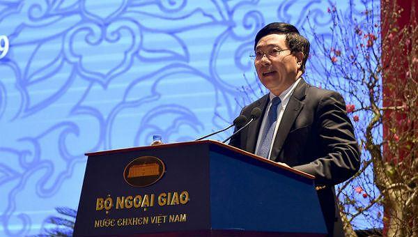 Phó Thủ tướng, Bộ trưởng Bộ Ngoại giao Phạm Bình Minh phát biểu tại Hội nghị.