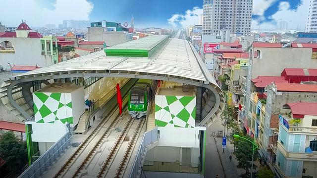 Đường sắt Cát Linh - Hà Đông (ảnh: Toàn Vũ).