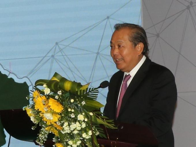 Phó Thủ tướng Trương Hòa Bình phát biểu tại hội nghị. Ảnh VGP/Mạnh Hùng
