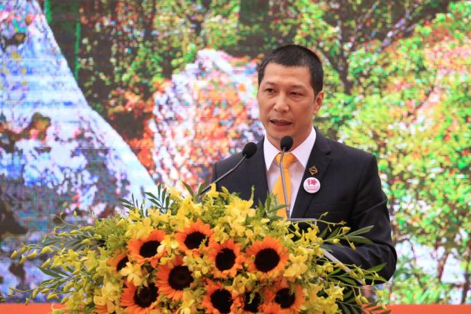 Ông Dương Thế Bằng - Chủ tịch Sun Group khu vực miền Trung phát biểu tại sự kiện.