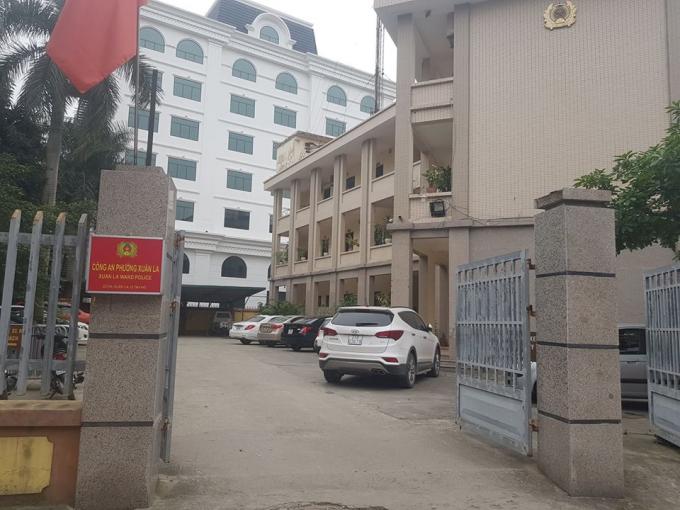 Trụ sở Công an phường Xuân La (Tây Hồ, Hà Nội).