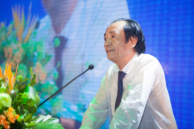 ÔngNguyễn Ngọc Mỹ Chủ tịch HĐQT Vabis Group - kiêm Chủ tịch HĐQT Công ty cổ phần Hồng Lam Xuân Thành phát biểu tại sự kiện