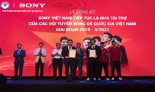 Sony Việt Nam tiếptụclà Nhà tài trợcủa các Đội tuyển Bóng đá Quốc gia Việt Namgiai đoạn 2019-3/2021