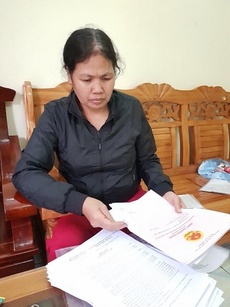 Bà Đào Thị Liên cung cấp chứng cứ, văn bản...