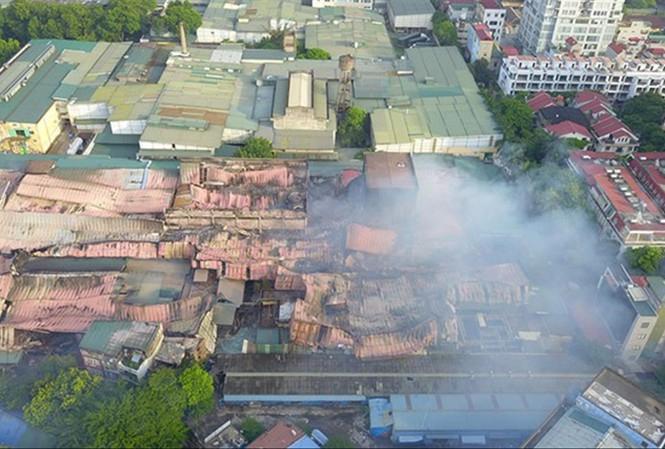 Hiện trạng khu nhà máy Rạng Đông sau khi cháy