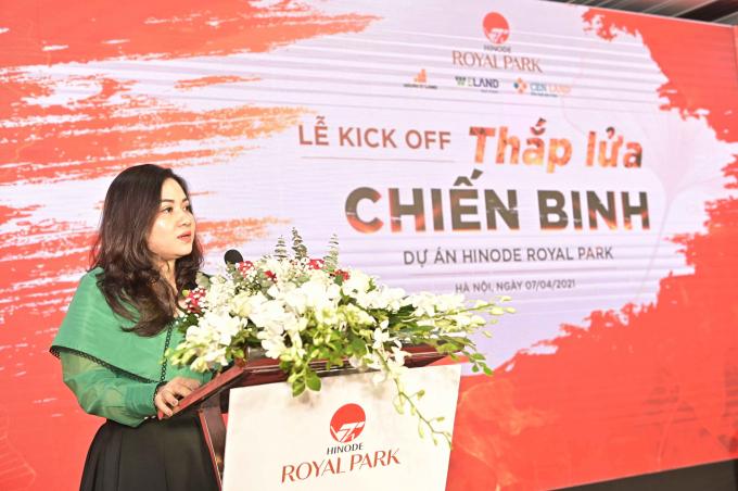 Bà Đoàn Thị Thanh Huyền – Giám đốc kinh doanh Chủ đầu tư WTO phát biểu tại lễ ký kết.