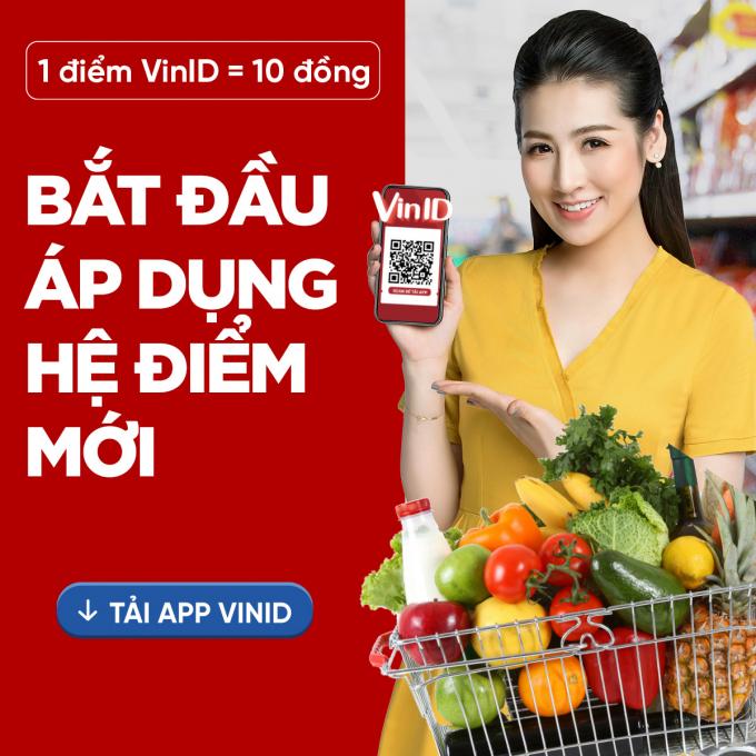 Người dùng VinID có thể tích điểm trên mọi giao dịch có giá trị chỉ từ 1.000 đồng từ 01/06/2021