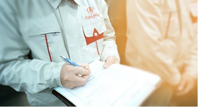 Quy trình bảo trì của FUJIALPHA được kiểm tra, giám sát chất lượng chặt chẽ theo quy trình quốc tế