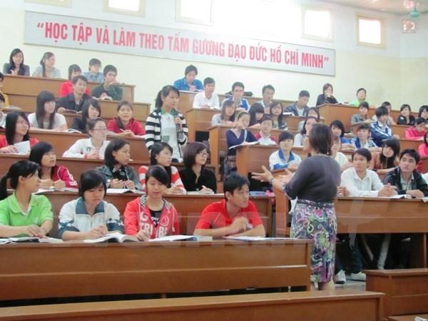 Giờ học của sinh viên trường Đại học Sư phạm Hà Nội. (Ảnh: PV/Vietnam+)