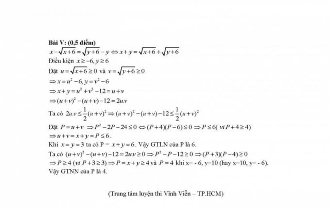Gợi ý đáp án đề thi môn Toán kỳ thi tuyển sinh lớp 10 tại Hà Nội